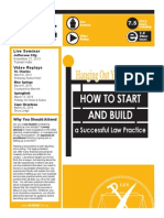 How to Start a Law Practice Brochure Updated 10-15-13