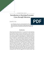 Cole - Surviving Economic Crises Through Education INTRO