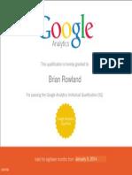 Google Analytics IQ Exam (GAIQ)