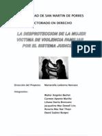 La Desproteccion de La Mujer Victima de Violencia Familiar p