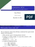 Microeconomics Lecture - Risk
