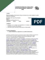 Laboratorio de Química  Determinación del peso molecular de un ácido mediante el análisis volumétrico. (Titulación)