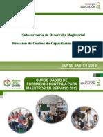 Presentación CBFC la Transformación de la Práctica Docente