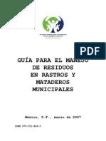 Guia Para Manejo de Residuos de Rastros y Mataderos Municipales