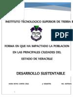 Forma en Que Impacta La Poblacion en Las Principales Cuidades Del Estado de Veracruz
