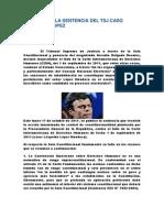 Resumen de La Sentencia Del Tsj Caso Leopoldo Lopez
