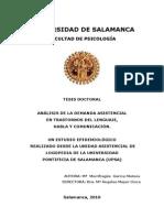 ANÁLISIS DE LA DEMANDA ASISTENCIAL EN TRASTORNOS DEL LENGUAJE, HABLA Y COMUNICACIÓN