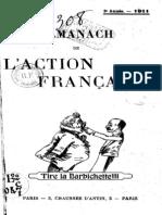 Almanach de l Action Francaise - 1911