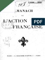 Almanach de l Action Francaise - 1912