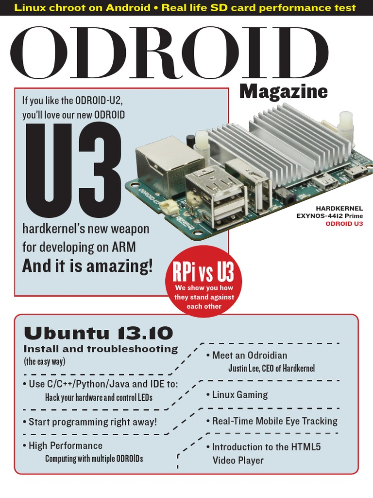 ODROID Magazine 201301 | Android (Operating System) | Arm Architecture