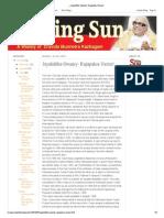 Sethusamudram Project and DMK