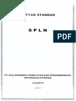 Daftar Standar SPLN