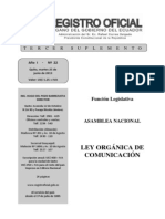 Ley Organica Comunicacion