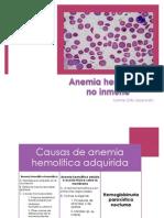 Anemia hemolítica no inmune