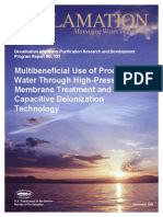 Report133 Produced Water Thru High Press Membrane Treatment -Capacitive Deionization Tech