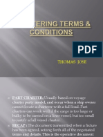 Chartering Terms