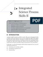 Topic 5 Integrated Science Process Skills II