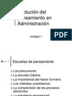 Unidad 1. Historia Administración