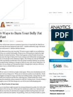 6 Ways to Burn Your Belly Fat Fast - Forbes