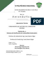Practica 2.- Sistemas de Dosificacion Del Motor (Carburador)