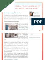 Meilleure Entreprise Pour L'installation Du Réservoir D'un Chauffe-Eau Au Canada