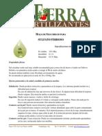 MSDS sulfato ferroso