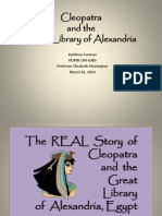 Cleopatra and the Great Library