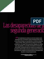 Las desaparecidas de Juarez, segunda genración