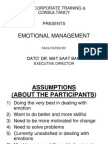 1)Emotional Management