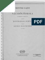 Montag Lajos Double Bass Method ( Kensey )