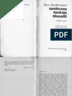 Horkheimer, Krytyka Instrumentalnego Rozumu