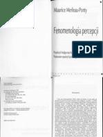 Merleau-Ponty, Fenomenologia Percepcji