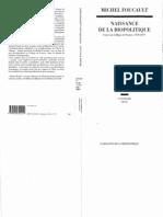 Foucault, Michel Naissance de La Biopolitique