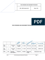 Risk Screening and Assessment Procedure - Petrobel