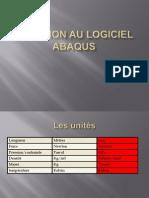 Initiation Au Logiciel ABAQUS