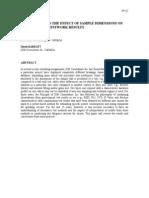 Procemin09-EffectOfSampleDimensionsOnTestwork