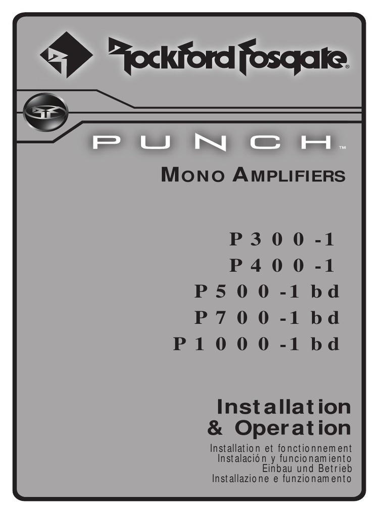 1230 55966 01 Rfpunchmono Man 5 Channels 2 Octave Graphic Equaliser By 4558