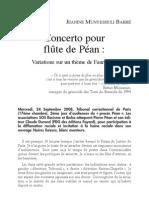 Concerto pour flûte de Péan