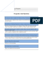 PTEC Frequently Asked Questions