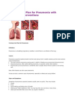 Nursing Care Plan for Pneumonia With Diagnosis Interventions