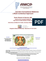 Traditional and Non-Conventional Medicine. a Multi Contextual Approach - PAOLO ROBERTI Di SARSINA Barcelona 10.01.14