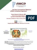 Traditional and Non-Conventional Medicine. a Multi Contextual Approach - PAOLO ROBERTI Di SARSINA Barcelona 10.01.14