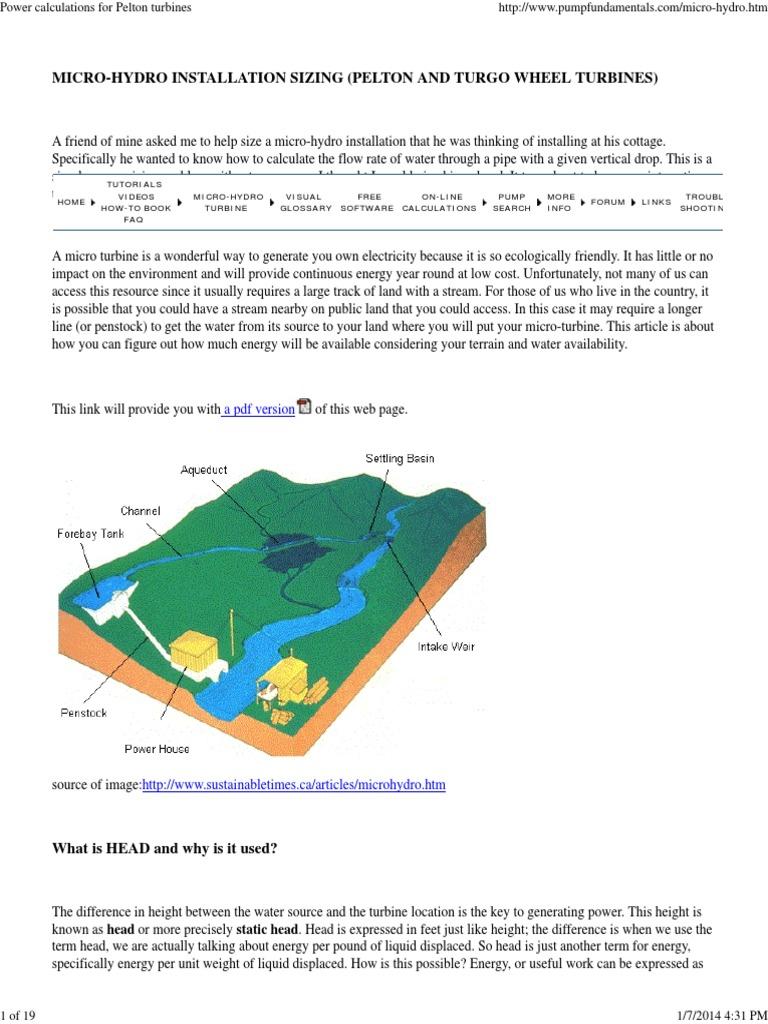 Power calculations for pelton turbines jet engine turbine nvjuhfo Image collections