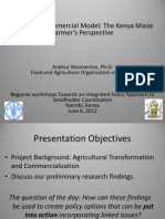 Woolverton FAO Nairobi Research Towards a Commerical Model