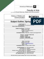BCM301 Subject Outline (PDF version) 190909