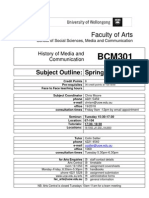 BCM301 Subject Outline (PDF version) 190909