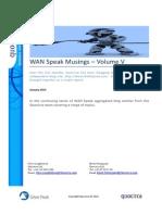WANSpeak Musings - Volume V