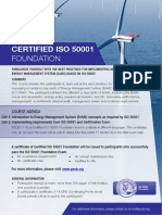 ISO 50001 Foundation - One Page Brochure