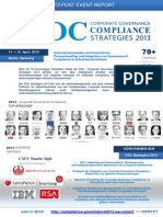 Post Event Report der Corporate Governance Compliance - Strategies 2013 Konferenz in Berlin