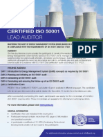 ISO 50001 Lead Auditor - One Page Brochure